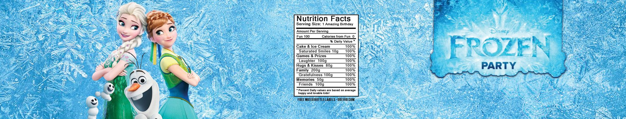 Free Printable Frozen Water Bottle Labels Free Printable Birthday