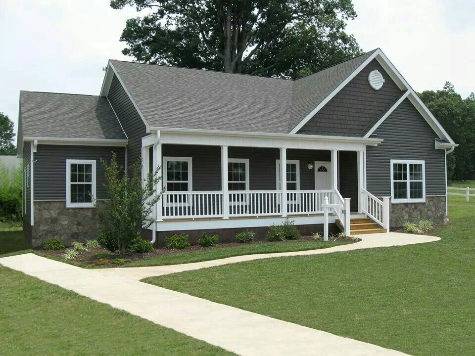 Image Result For A Ranch House With Charcoal Siding