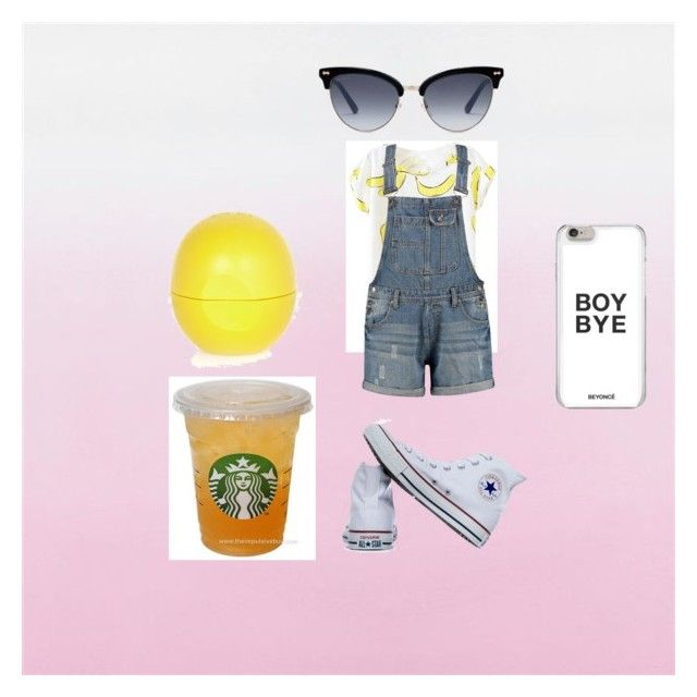 """""""A day And A Life"""" by ayeitsmez ❤ liked on Polyvore featuring Converse, Gucci and River Island"""