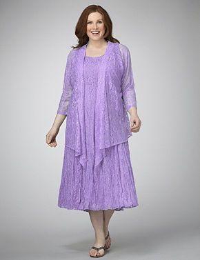 Purple jacket dress plus size