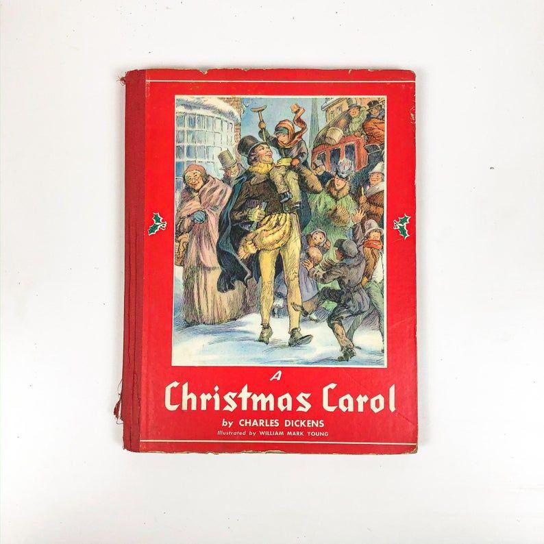 A Christmas Carol By Charles Dickens Rare 1939 Edition Etsy Christmas Carol Christmas Spirit Jacob Marley