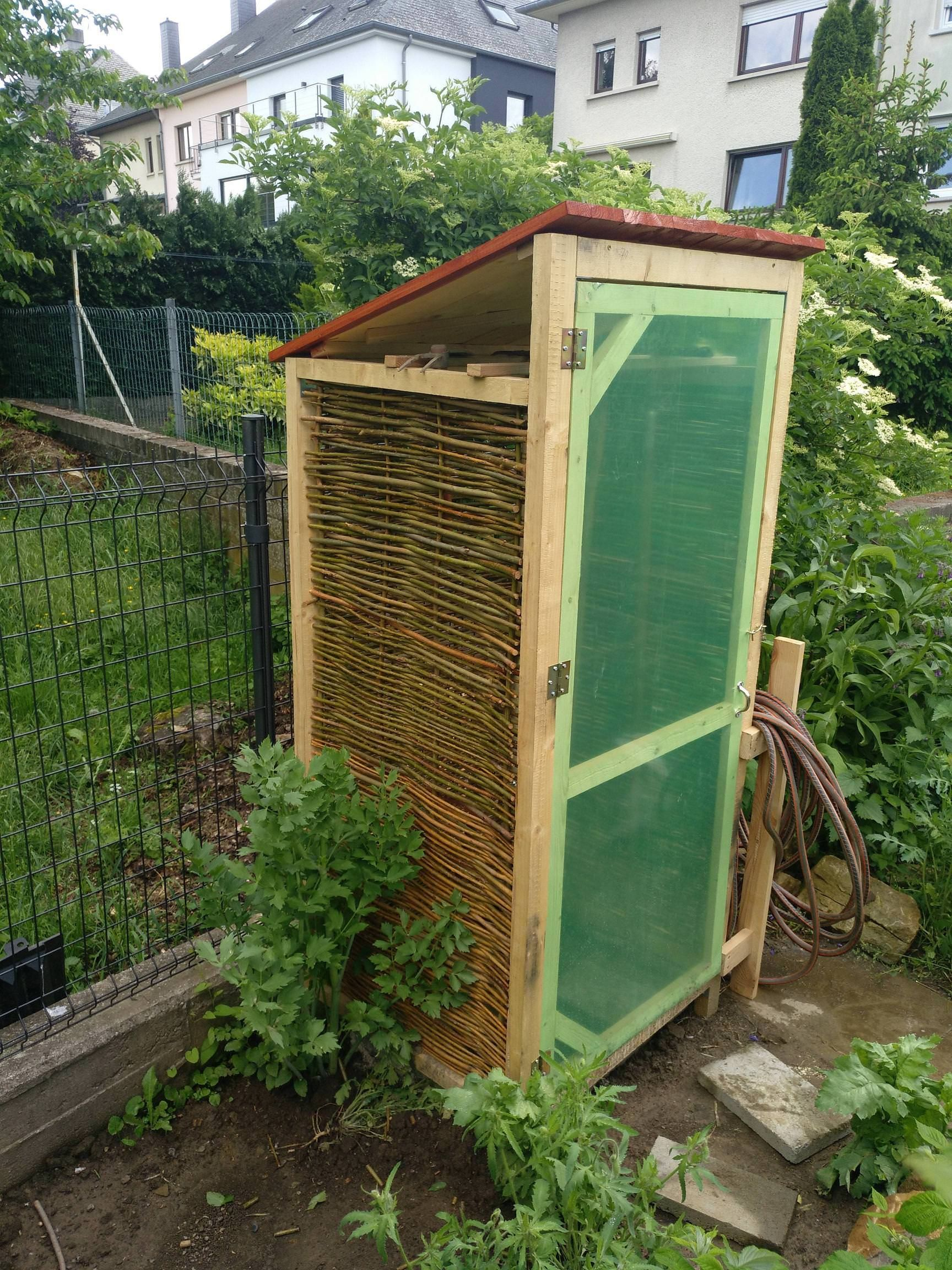 I build a little tool shed for my small garden #gardening #garden ...