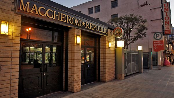 Top Restaurants In Downtown Los Angeles Maccheroni Republic Italian Around The Worlds Downtown Los Angeles Top Restaurants