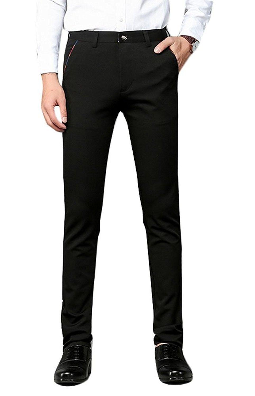 Men S Clothing Pants Men S Slim Straight Fit Work Wear Casual Pant Slim Fit Dress Pant 8104 Blac Slim Fit Dress Pants Black Dress Pants Men Black Pants Men [ 1500 x 965 Pixel ]