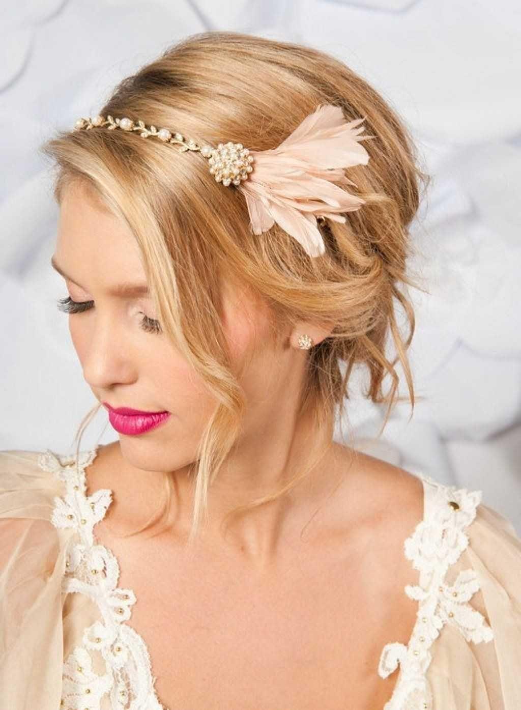 Headband wedding hairstyle :: one1lady.com :: #hair #hairs #hairstyle #hairstyles
