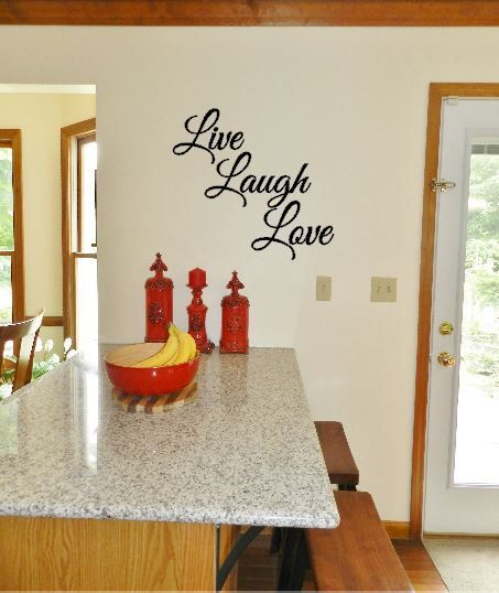 Live Laugh Love Vinyl Decal Live Laugh Love Living Room Etsy Coffee Decal Coffee Wall Art Living Room Decals