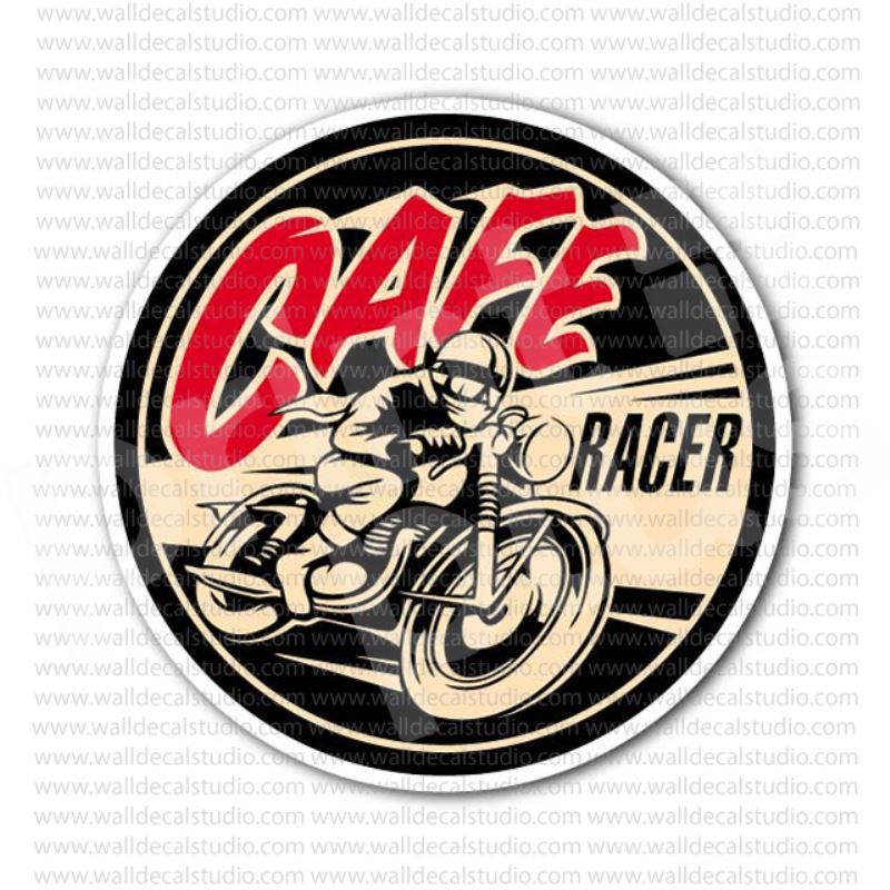 Cafe Racer Motorcycle Rockers Vintage Sticker Motorcycle