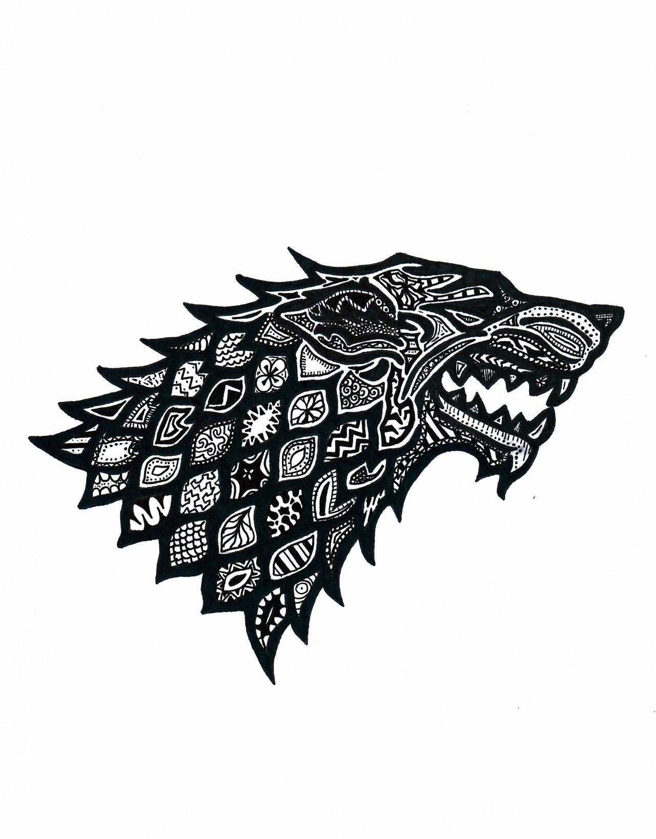 House Stark Com Imagens Tatuagem Game Of Thrones Designs De