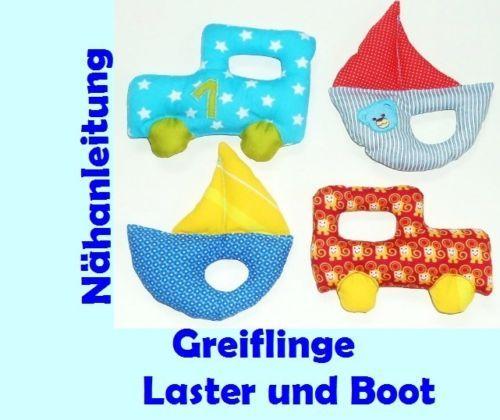 Ebook-Schnittmuster-Laster-Boot-Greifling-Baby-Spielzeug-Kuscheltier ...