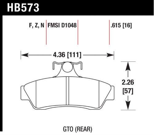 Hawk Performance HB573N.615 Disc Brake Pad; HP Plus w/0