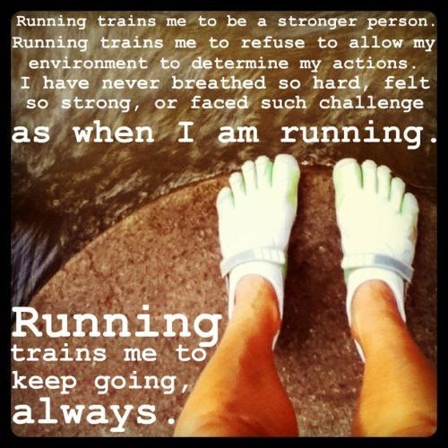 Running trains me
