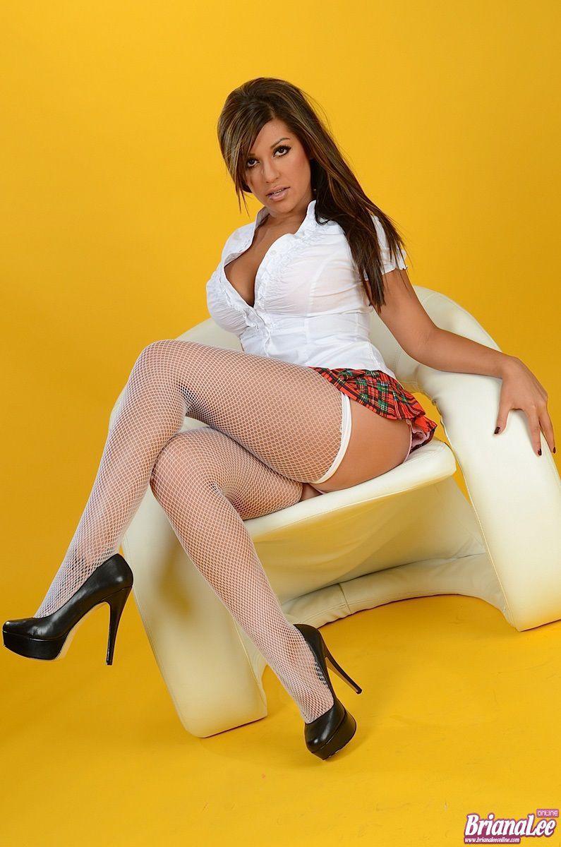 Black heels high stockings Latina and