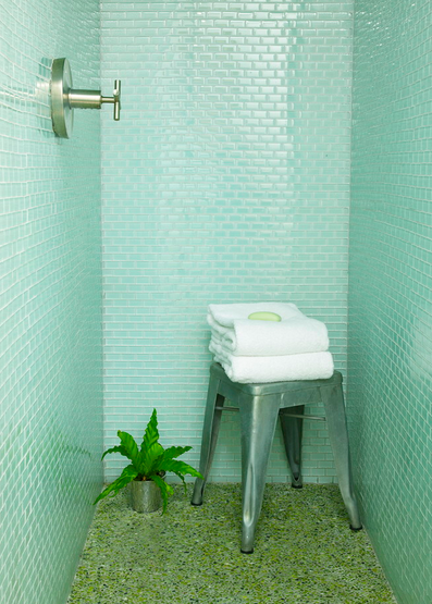 Shorely Chic Blue Glass Subway Tile Subway tile is so in right now