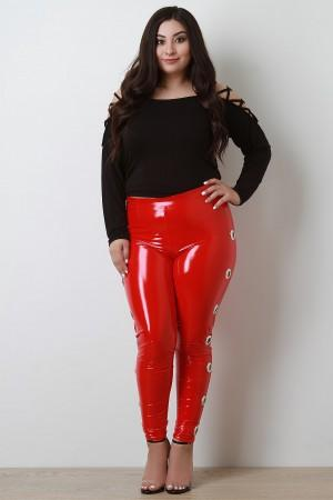 These Plus Size Leggings Feature An Elasticized High Rise Design A