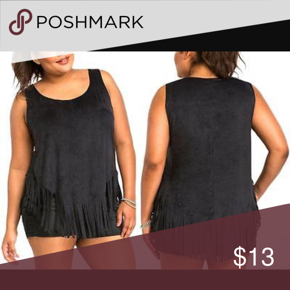Torrid Black Fringe Tank Guaranteed authentic. Excellent used condition! Flaws include: none!  Super cute at an affordable price. Ask to bundle for a discount. No free ship! torrid Tops Tank Tops