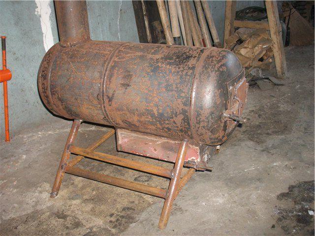 устройство: печка из газового баллона одна