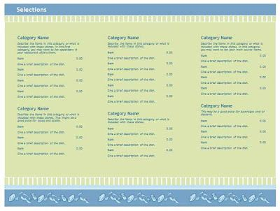 Free Blank Restaurant Menu Templates Free Restaurant Menu - free dinner menu templates