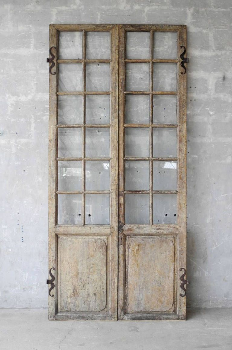 Pair Of 18th Century Walnut French Doors Image 2 Five