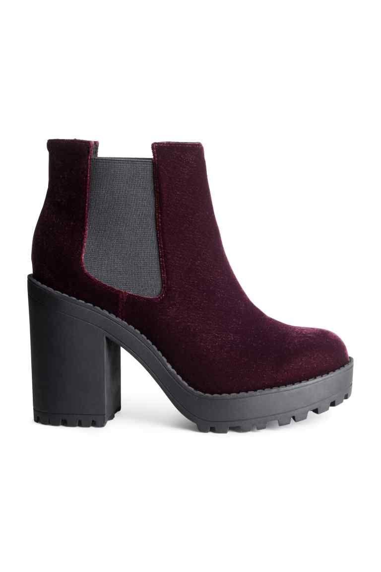 2fa2709c Botines con plataforma   H&M   Botines   Zapatos bonitos, Zapatos ...