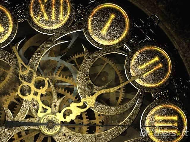 Download Free Mechanical Clock 3D Screensaver, Mechanical Clock 3D - new world time map screensaver free download