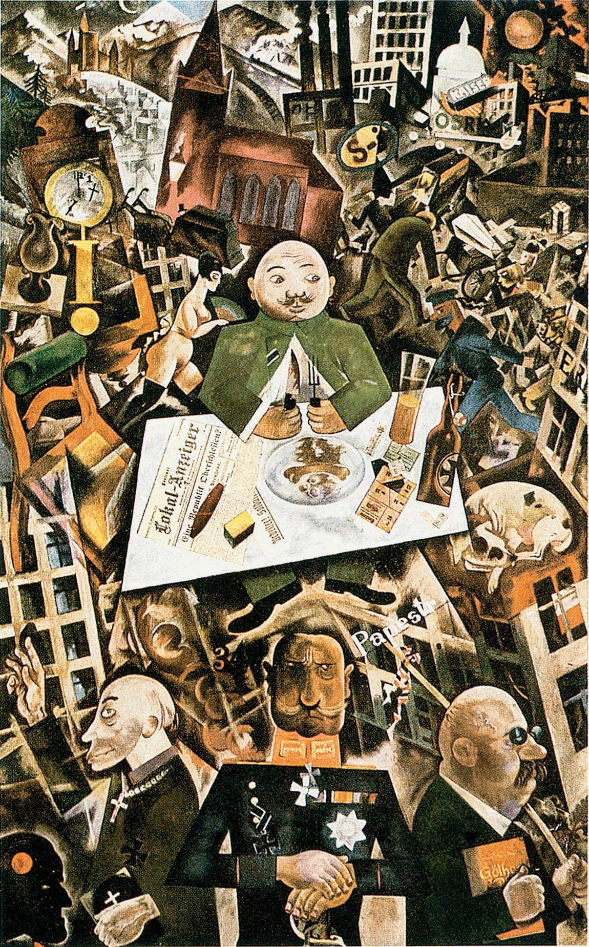Pin en Max Beckmann, Otto Dix, George Grosz