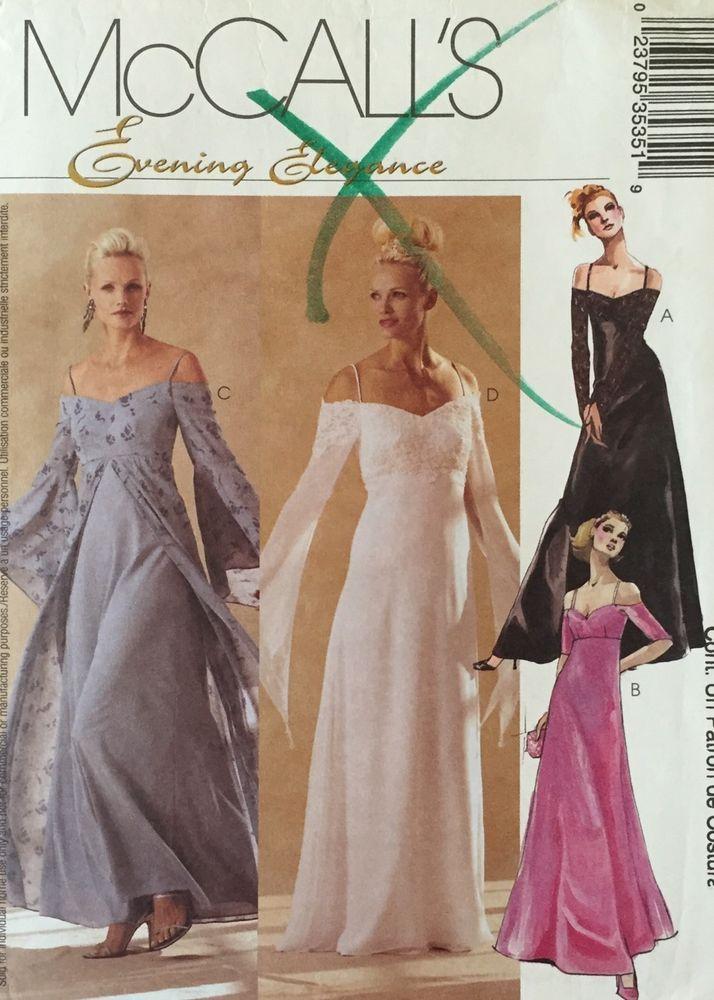 McCalls 3535 Pattern Misses Evening Elegance Formal Empire Waist ...