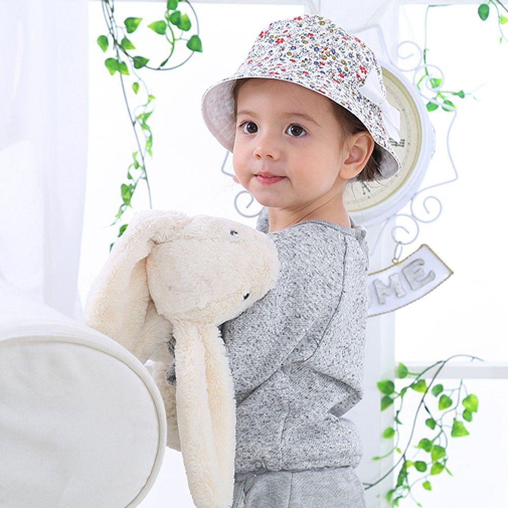15179b48c1b 2018 Baby double sided cool cap sun fisherman hat Cotton Baby Flower Print Summer  Hat Kids