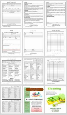 Custom Business Forms Collage  Little Sweepers Cleaning My