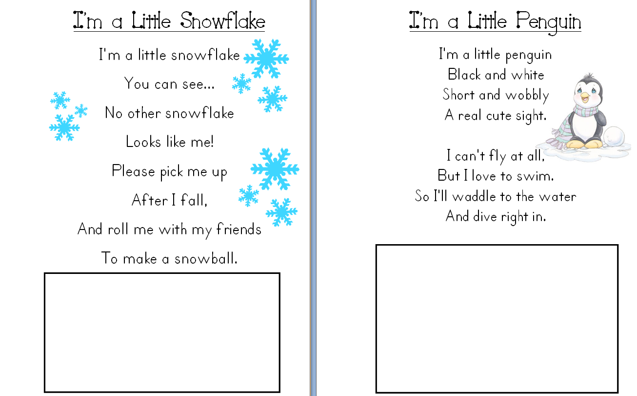 december poems for kindergarten | Click here to download the
