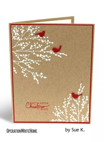 Simply elegant Christmas card from Operation Write Home