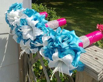 03d8e51509 Popular items for malibu blue bouquet on Etsy