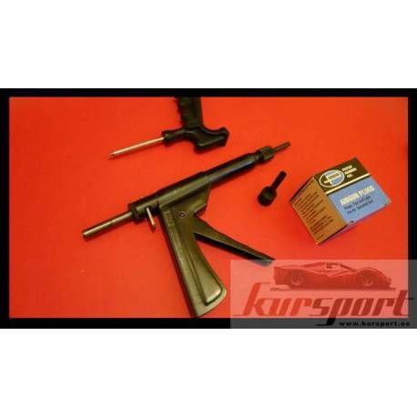 Kit Reparación Pinchazos Profesional Reparación Kit Neumaticos