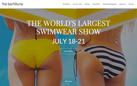 THE WORLD'S LARGEST SWIMWEAR SHOW