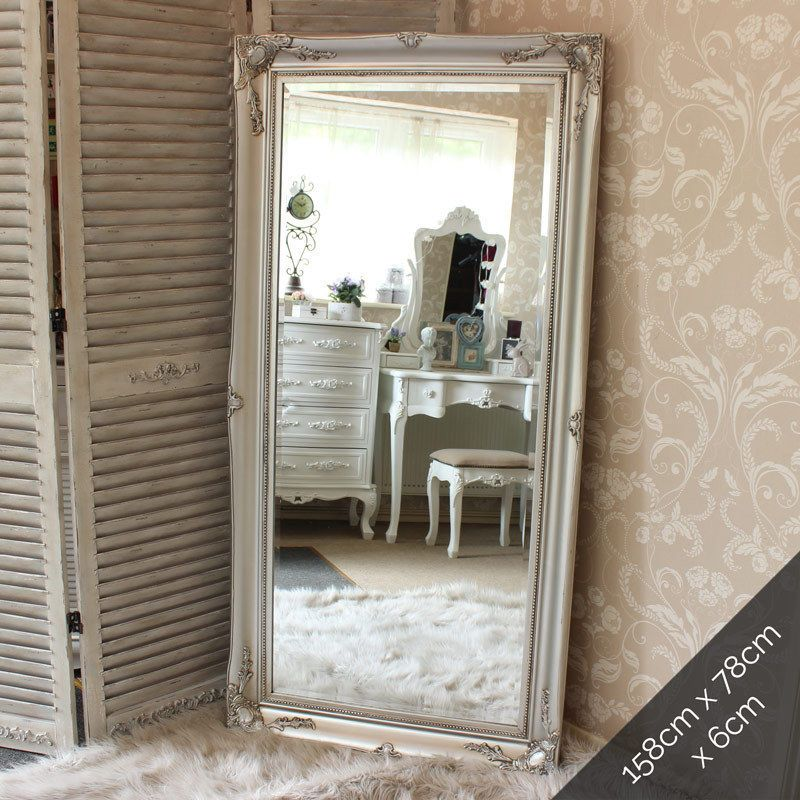 Details About Extra Large Silver Wall Floor Ornate Mirror Bedroom Hall Living Room Vintage