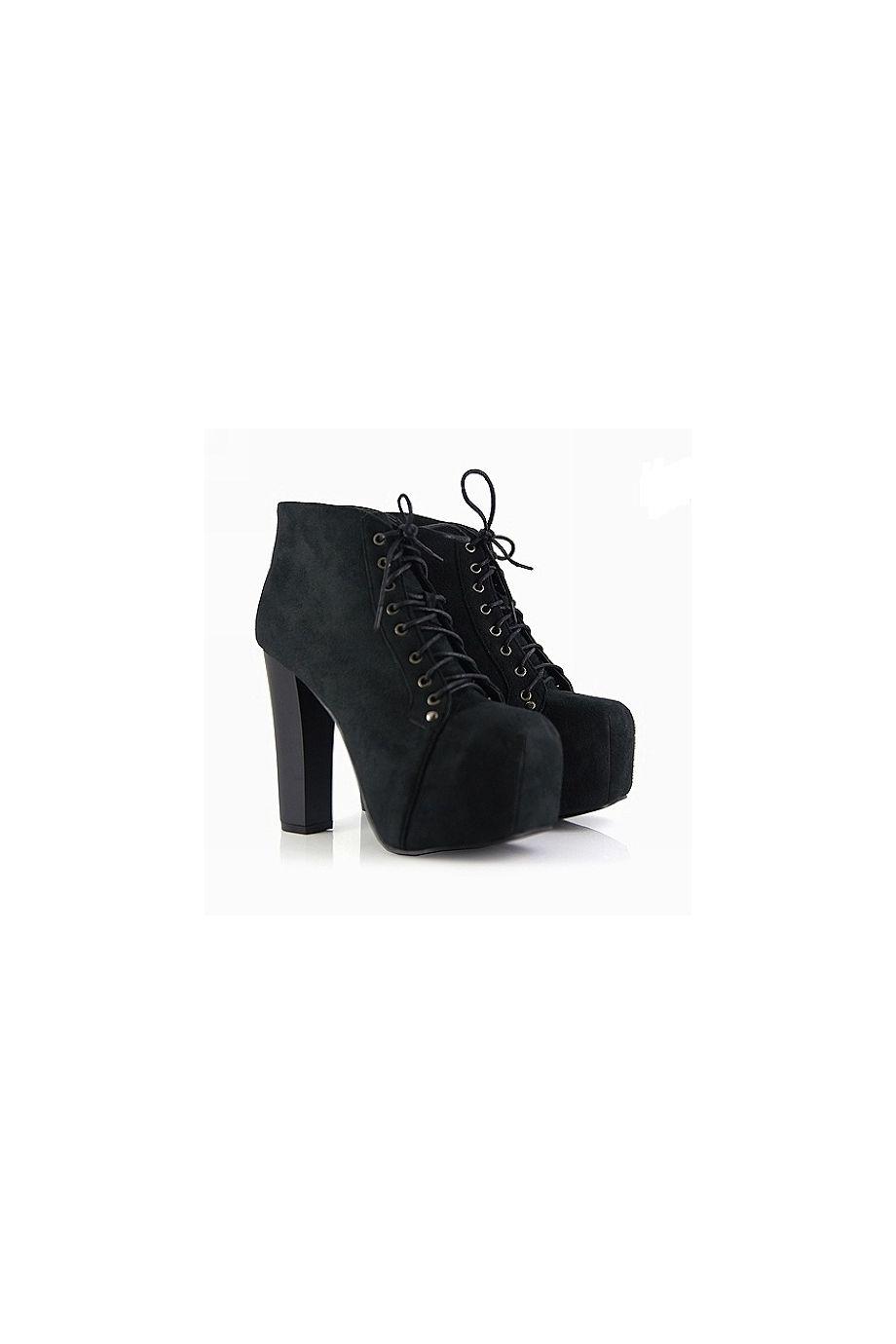 d358f872ed7b ZENA Black Platform Ankle Boots