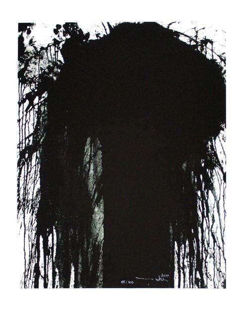 Hermann Nitsch: Motiv 4 - schwarz - Galerie-F