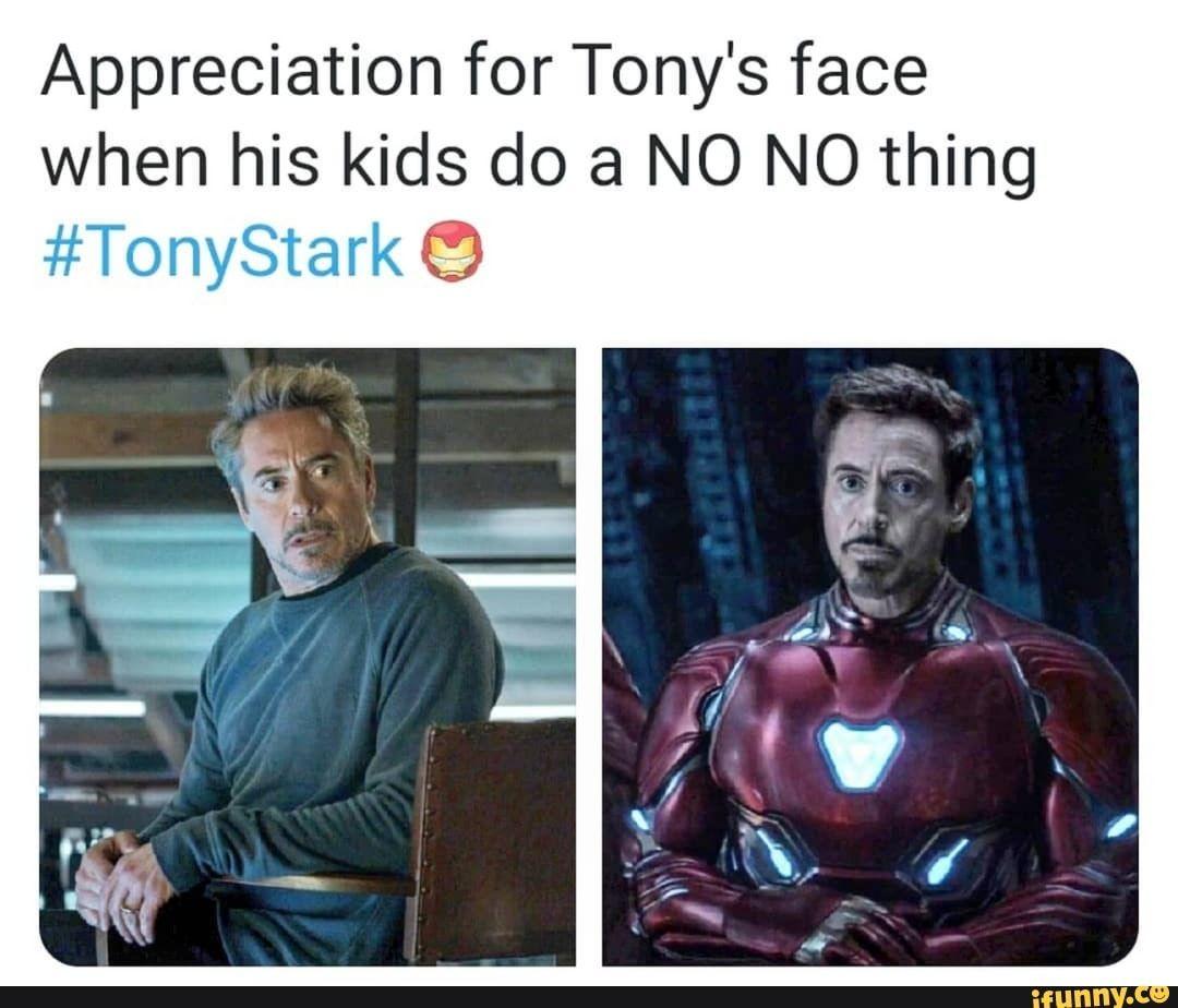 Appreciation for Tony's face when his kids do a NO NO