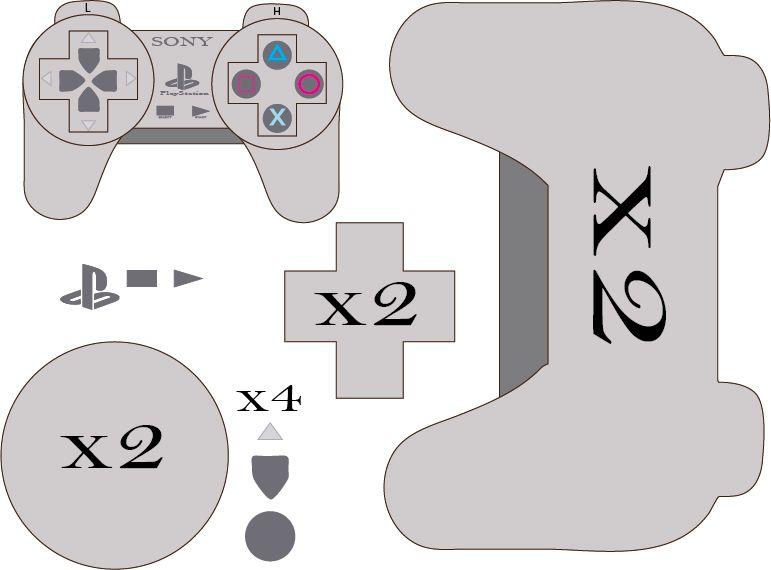 Playstation Plushie Pattern by Mokulen22 on DeviantArt #sinterklaasknutselen