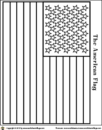 American Flag Coloring Page For May Objective Summary Activity