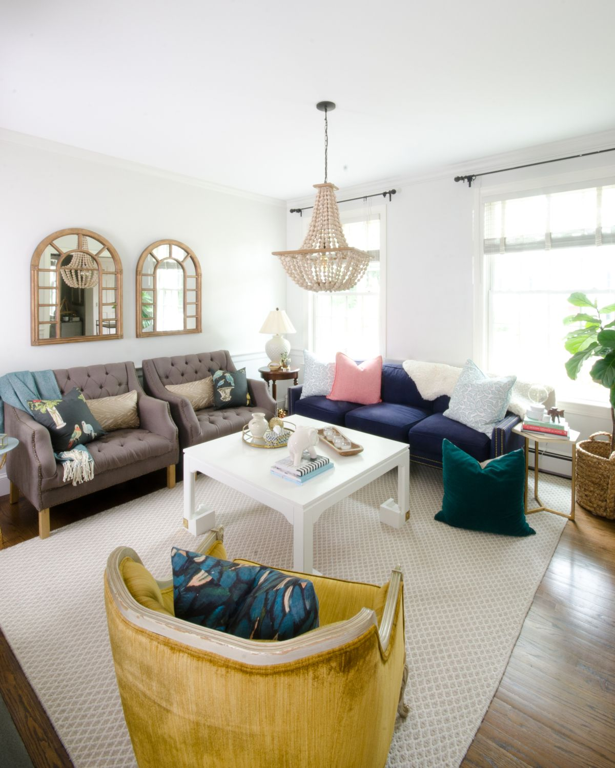 Perfect Teal And Yellow Living Room Model - Living Room Design Ideas ...