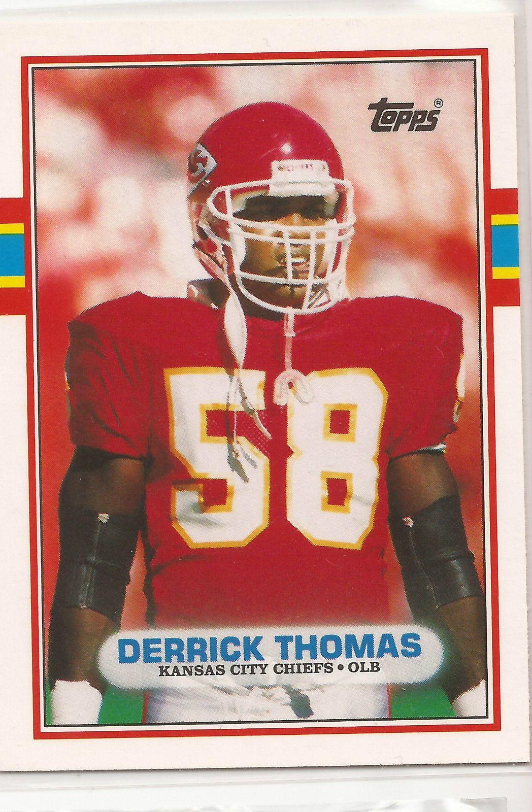 Derrick Thomas With Images Derrick Thomas Kansas City Chiefs Football Cards
