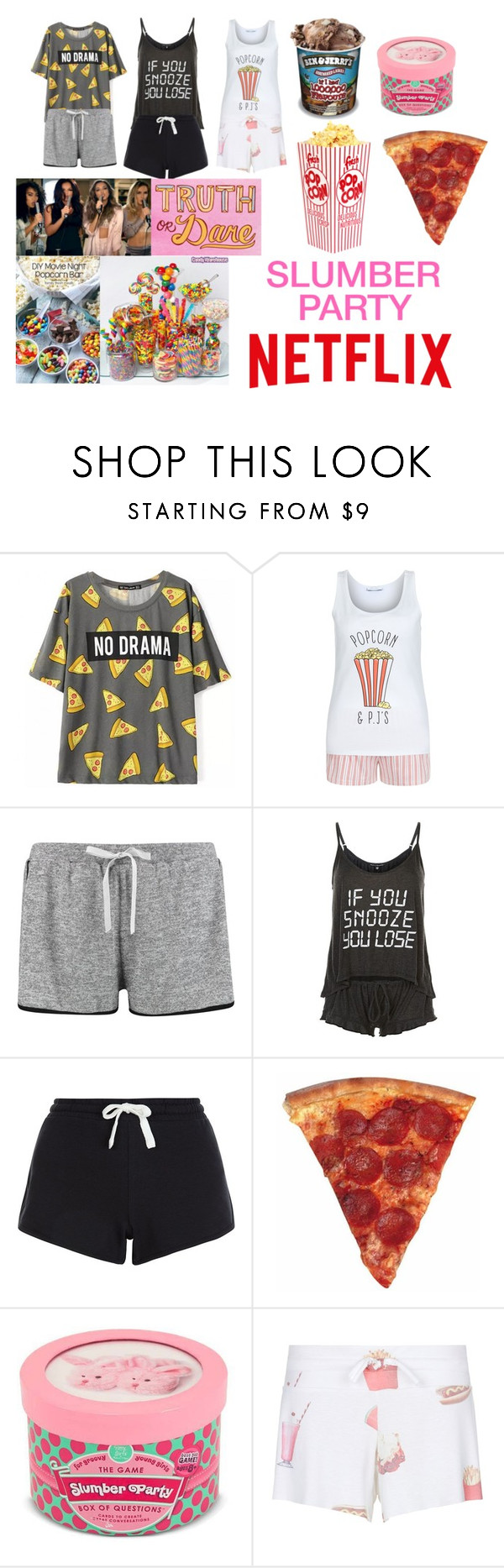 """Girls slumber party"" by mercedes-10 ❤ liked on Polyvore featuring New Look and Wildfox"