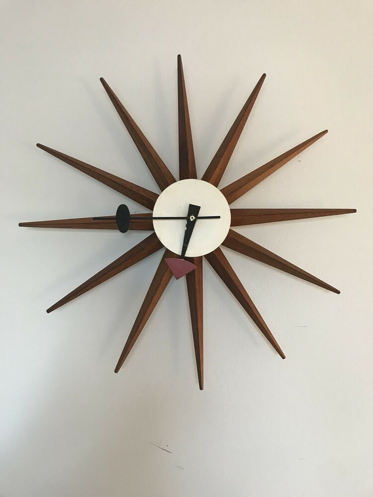 1950s Mid Century Modern George Nelson For Howard Miller Wall Clock 19 Midcenturymodern Howard Miller Wall Clock Mid Century Modern Clocks Mid Century Clock