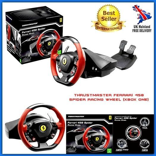 Xbox One Racing Steering Wheel Pedal Set Controls Gaming