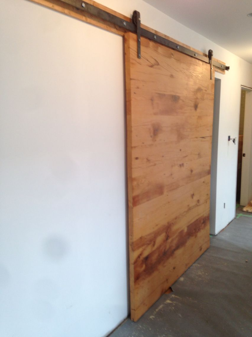 6 Wide Barn Door Made Out Of 2x10 Joists Reclaimed From The Same House When The Owner Did A Complete Gut Out Renovation Barn Door Custom Door Door Frame