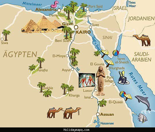 nice Egypt Map Tourist Attractions | Egypt map, Egypt, Weather activities  for kids