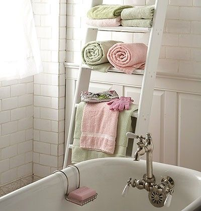 Gentil DIY Bathroom Towel Storage: 7 Creative Ideas