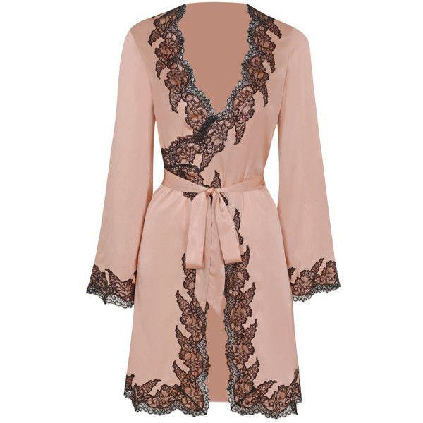 e7e0876ec1 Agent Provocateur Amelea Pyjama Top Pink Black ( 895) ❤ liked on Polyvore  featuring intimates