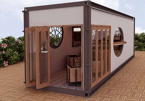 container homes coffee shops stores bars and warehouse projects pictures and new designs by. Black Bedroom Furniture Sets. Home Design Ideas