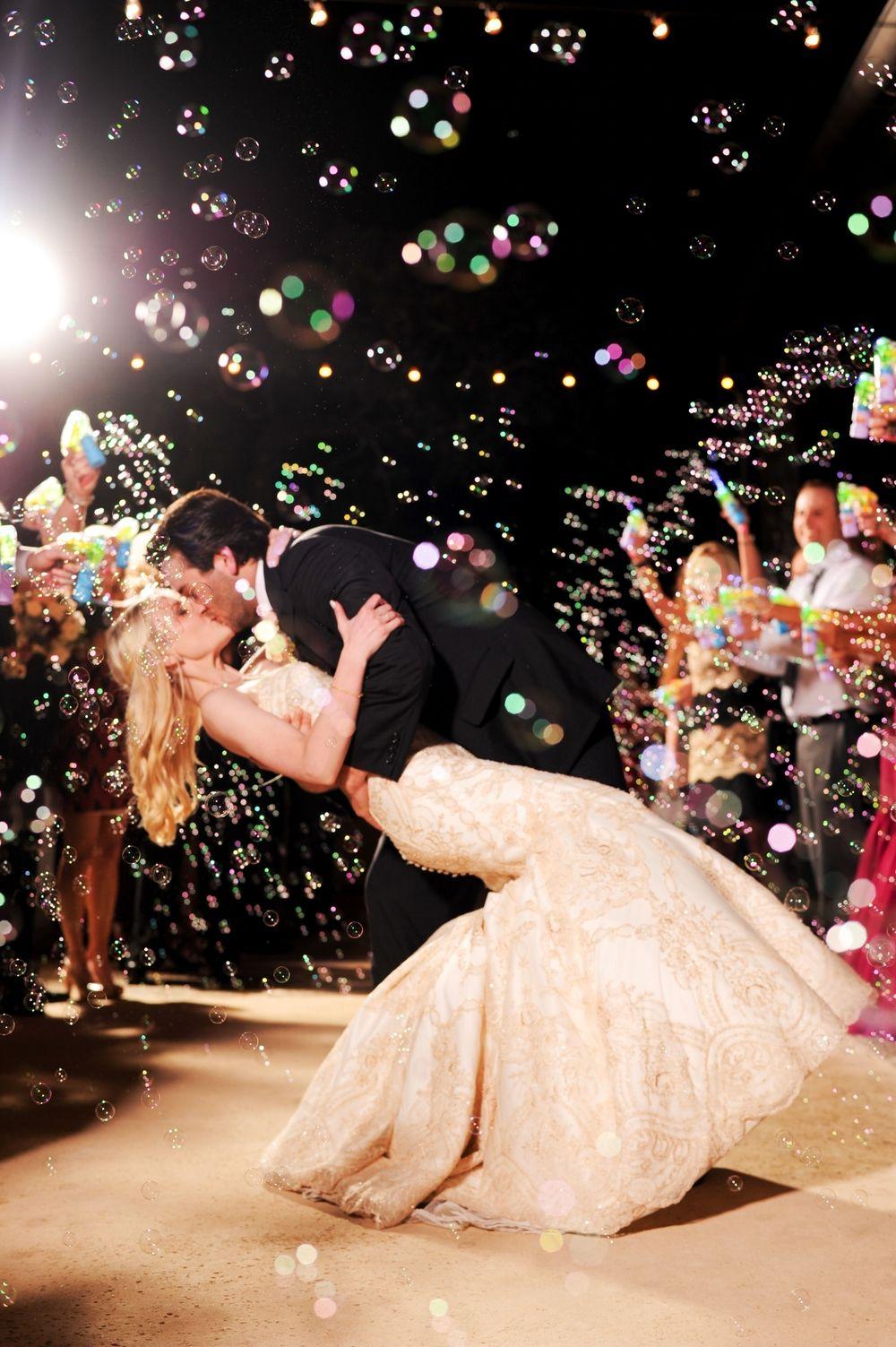 Bubble Exit Spanish Inspired Wedding Lost Mission Photographer San Antonio Austin
